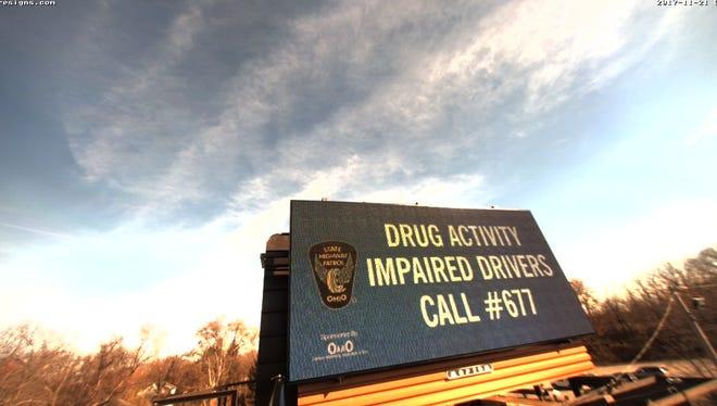 New anti-drug signs will greet travelers across Ohio.
