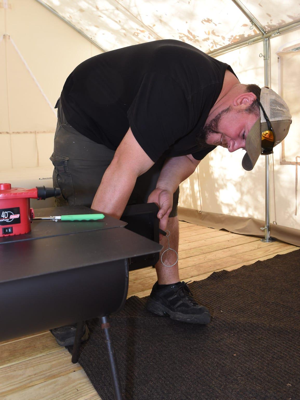 Rob Begley, a campsite builder for Tentrr, reviews
