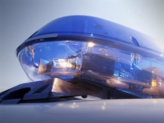 Police siren blue