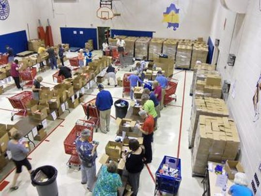 PLY mail food drive