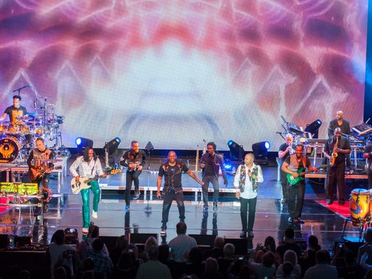 Earth Wind & Fire perform a sold-out show at the Tennessee Theatre.