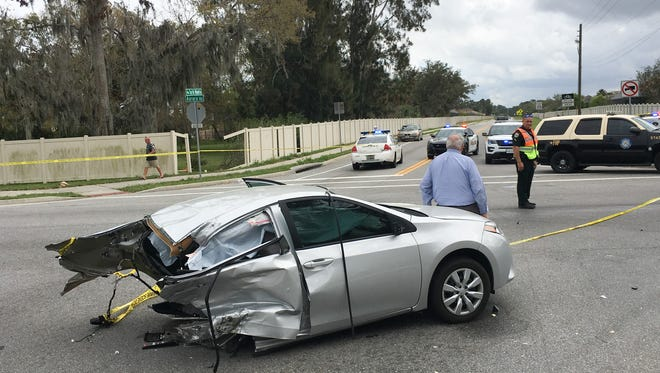 Police were investigating a multi-vehicle crash at Turtle Mound and Aurora Road in unincorporated Brevard County near Melbourne.
