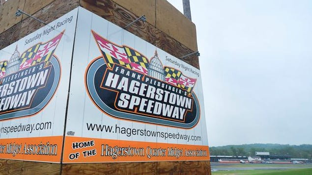 Hagerstown Speedway, west of Hagerstown, has voluntarily suspended racing until further notice after Maryland State Police responded to a complaint Thursday night about an excessive crowd at the track. COLLEEN McGRATH/HAGERSTOWN HERALD MAIL