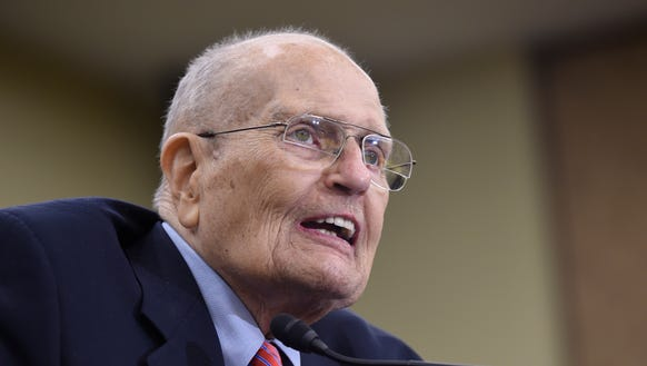 Former Rep. John Dingell, D-Mich., speaks at an event