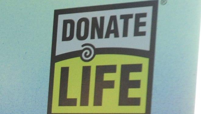 """Donate Life"" organ donor logo."