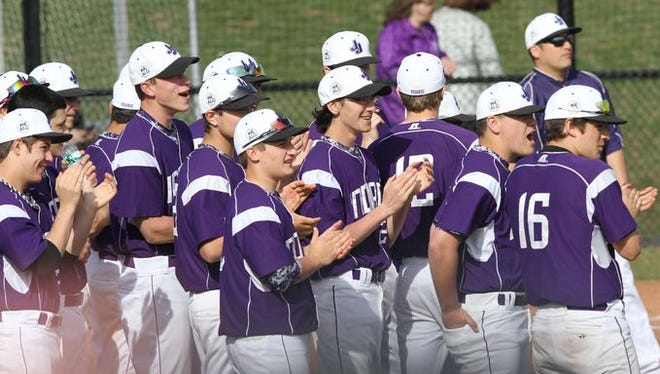 Rye defeated John Jay 4-3 in a baseball game at John Jay High School in Cross River April 16, 2015.