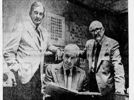 This 1982 clipping from The Arizona Republic shows Fred Stofft, Edward Boyle and former Arizona Gov. Howard Pyle. The three men decided how to divide reward money for information that led to a conviction in the car bombing of Republic reporter Don Bolles.