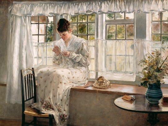 """Window Seat"" by Francis Davis Millet."