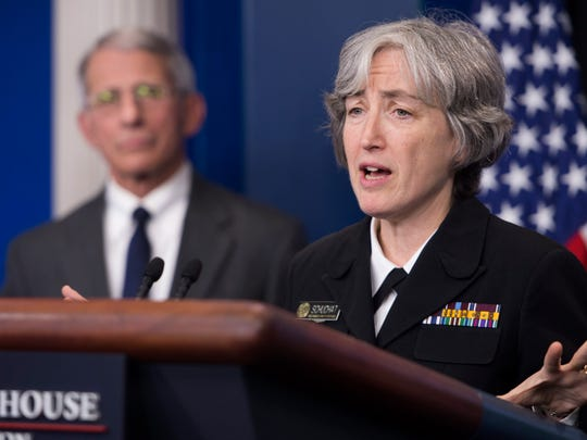 Dr. Anne Schuchat, principal deputy director of the Centers for Disease Control and Prevention, is shown in 2016 during a Zika virus briefing.