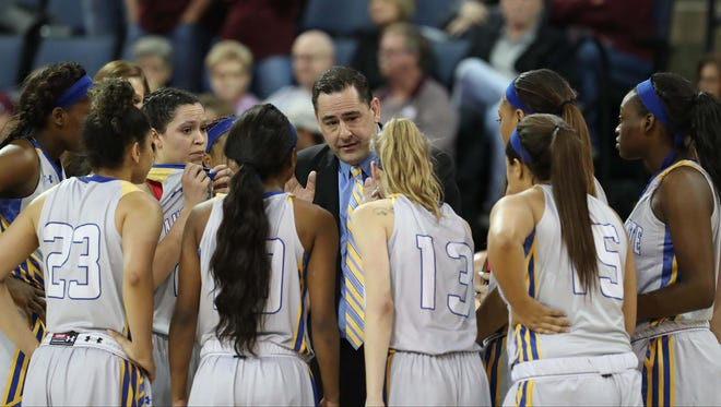 Angelo State University coach Kevin Baker is the new head women's basketball coach at UTEP.