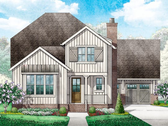 This is a rendering of the home under construction