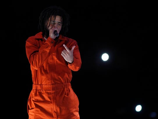 J. Cole performs during his 4 Your Eyez Only World