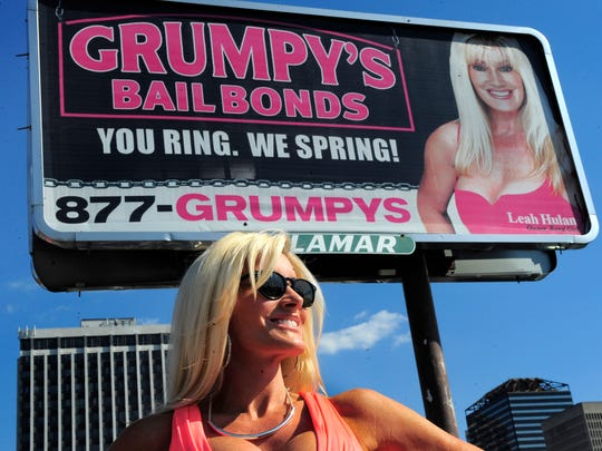 Leah Hulan is the owner and face of Grumpy's Bail Bonds