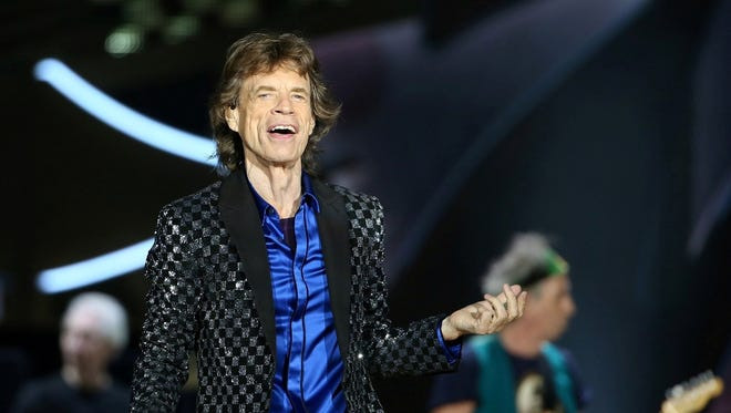 Mick Jagger is seen performing with the Rolling Stones last fall in Australia.