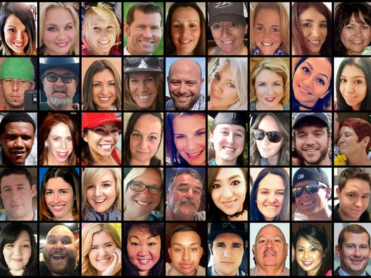 This photo combination shows some of the victims of