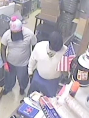Middletown police are looking for these two men who they say robbed a Valero gas station at gunpoint.