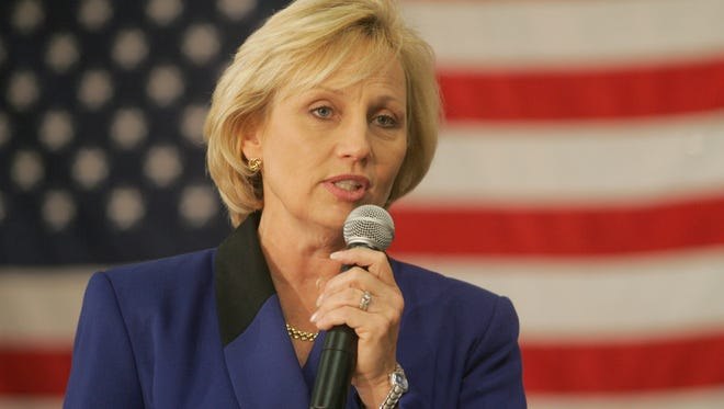 """Lt. Gov. Kim Guadagno on Thursday attended the Old Bridge Business Alliance's Leadership Forum as part of her """"We're In It Together"""" business tour."""