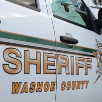 A file photo of a Washoe County Sheriff's vehicle. Deputies arrested a wanted man who had fled from officers after he was spotted riding a bicycle in Sun Valley.