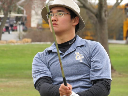 Senior Ryan Lee tied for sixth to help NV/Old Tappan place third at the FDU Invitational at River Vale Country Club on Wednesday, April 11.
