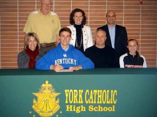 Erich Hartman signed to play baseball at the University of Kentucky.