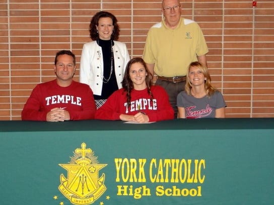 Kayla Kennedy signed to compete in gymnastics at Temple University.
