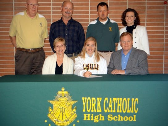 Lindsay Givens signed to play lacrosse at La Salle University.
