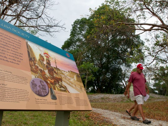 Visitors to the Randell Research Center in Pine Island are able to learn about the Calusa Indians and their history via several informational displays visible along the center's trails.
