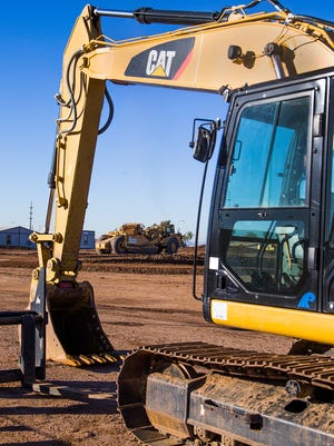 Work continues at the Ocotillo Water Reclamation Facility in Chandler, Friday, Nov. 6, 2015.  A $122 million expansion of the plant is underway.
