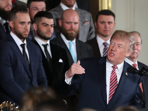 491c46141 President Donald Trump speaks at a ceremony honoring