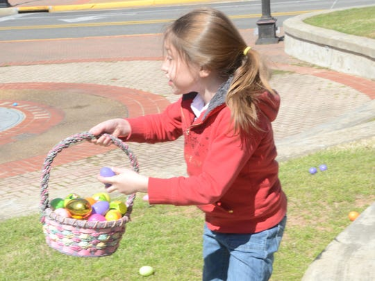 Vivian Montalvo found a golden egg during an Easter egg hunt.