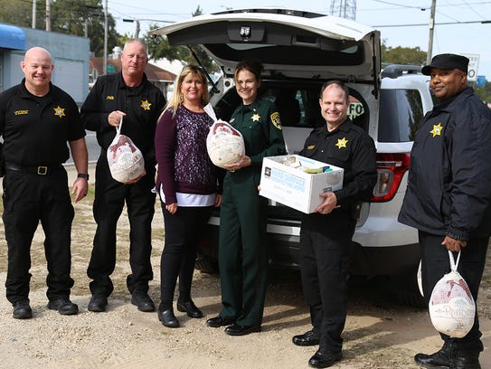 Escambia County Jail staff members collected Thanksgiving