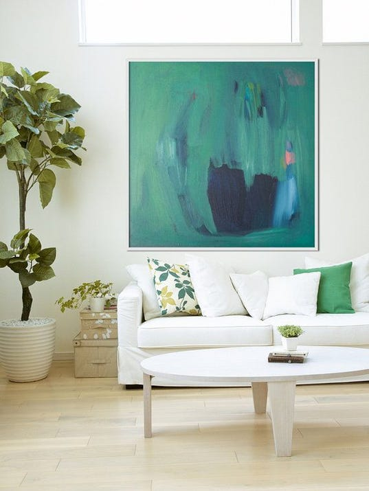 Abstract painting on Etsy