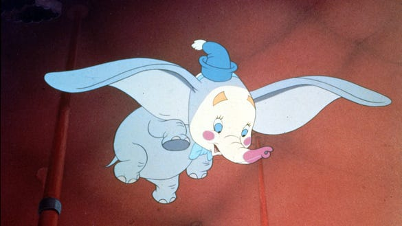 "Date taken 1941--A scene from the Disney classic ""Dumbo."""