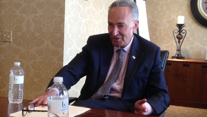 New York Sen. Charles Schumer meets with the Editorial Board on Monday.