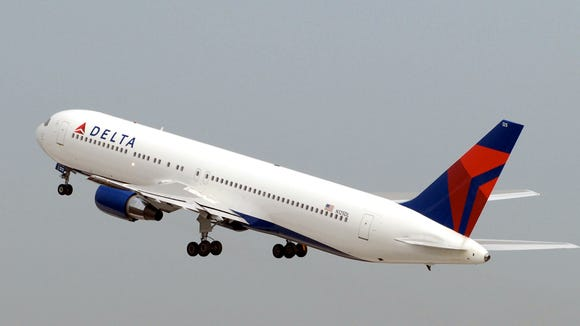 A file photo of a Delta Air Lines Boeing 767.