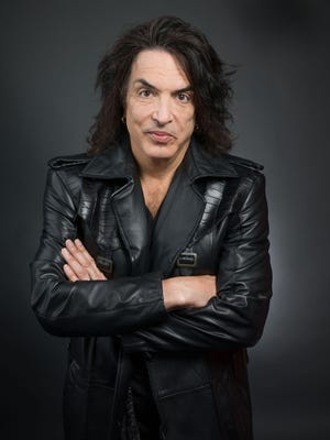 """Paul Stanley, guitarist and frontman of the band Kiss, poses in New York on April 7, 2014.  Stanley released a memoir, """"Face The Music:  a Life Exposed,"""" this month."""