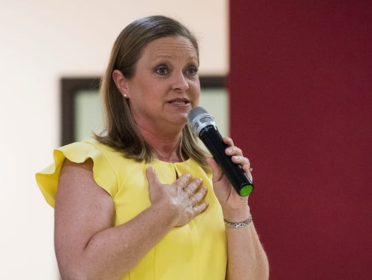 District Six candidate Deena Weston speaks during the