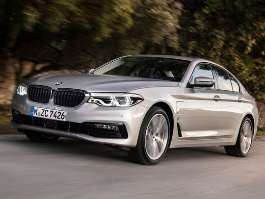The BMW 530e iPerformance, a plug-in hybrid vehicle.