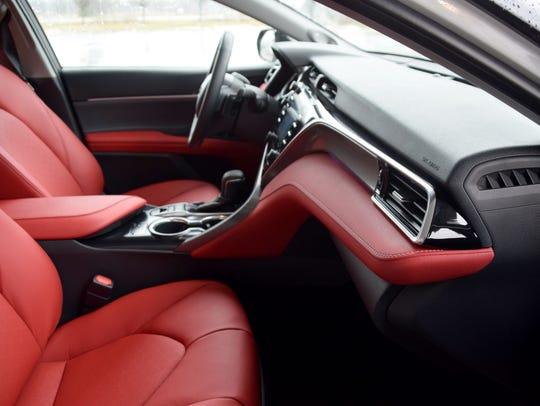 Toyota Camry passenger seat view.