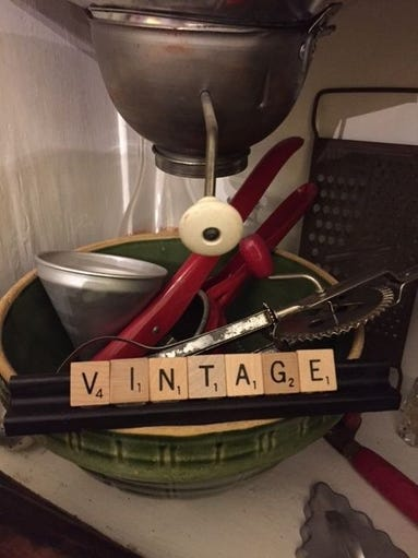 I painted this Scrabble rack black before added the