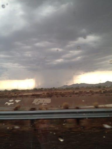 Charles Troutmam took this photo of the gloomy Arizona