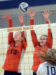 Hannah Swanson (right) helped Brighton win KLAA West