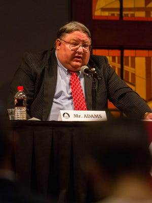 City council candidate Ron Adams speaks during a debate held at Southern Utah University by the Michael O. Leavitt Center for Politics & Public Service, Tuesday, October 17, 2017.
