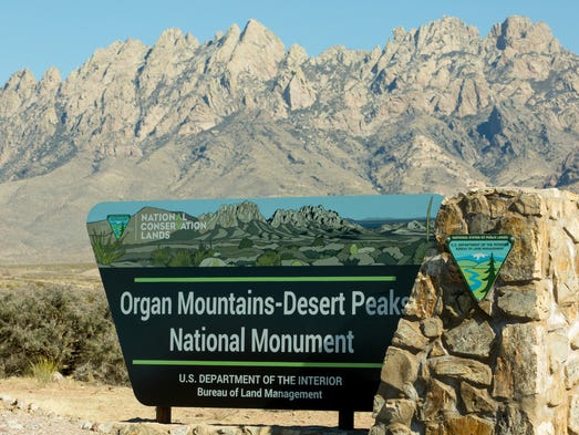 Pictured is a Organ Mountain-Desert Peaks National