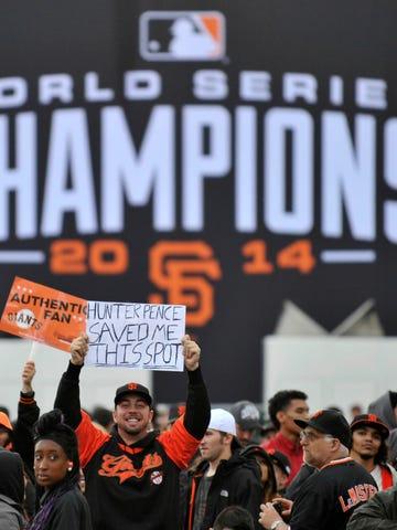 San Francisco celebrates the 2014 World Series champion Giants