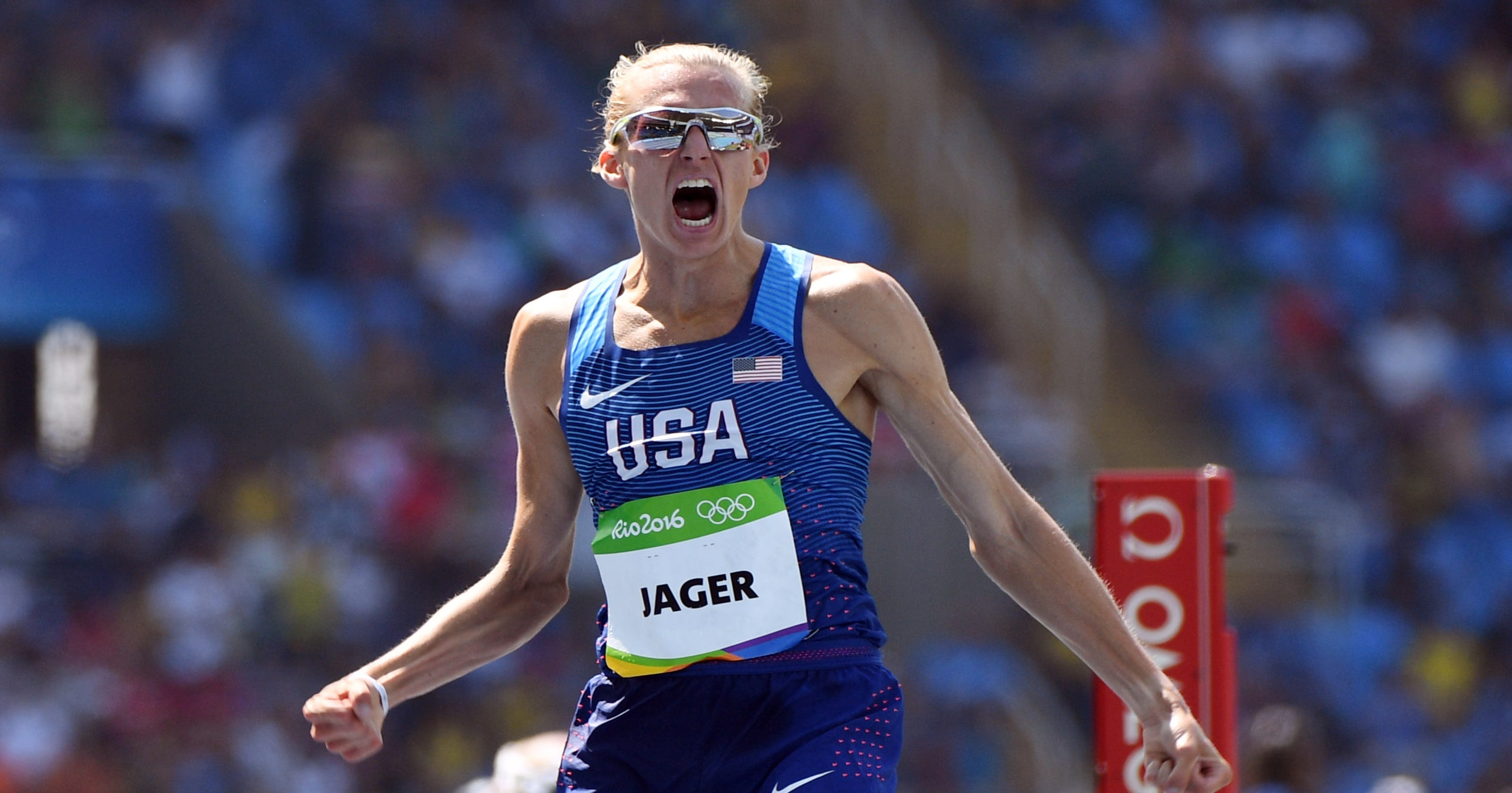 USA s Evan Jager wins silver medal in men s 3000 steeplechase at Rio  Olympics c627e93e2