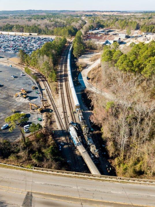 AP TRAIN CRASH-SOUTH CAROLINA A USA SC