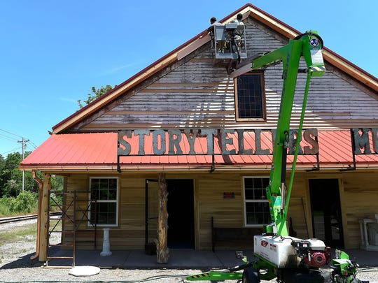 Work continues on the Storytellers Museum in Bon Aqua,