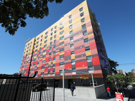 The exterior of The Modern apartment building on Mount Vernon Avenue in Mount Vernon, Sept. 28, 2017.