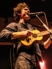 Vance Joy plays the ukulele during his Plaza Theatre concert April 24.